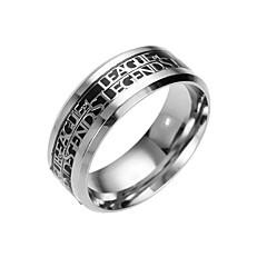 お買い得  指輪-男性用 バンドリング - 幾何学形 ファッション シルバー / ブルー / ゴールドとブラック リング 用途 日常