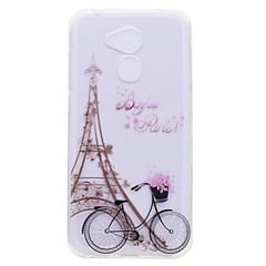 billige Etuier/covers til Huawei-Etui Til Huawei Honor V9 Honor 9 Lite Transparent Mønster Bagcover Eiffeltårnet Blødt TPU for Huawei Honor 9 Lite Honor 9 Honor 8 Honor