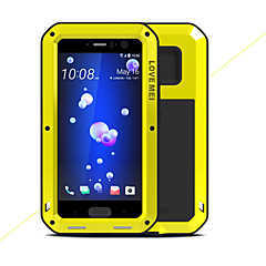 Недорогие Чехлы и кейсы для HTC-Кейс для Назначение HTC U11 Защита от удара Водонепроницаемый Чехол Сплошной цвет Твердый Металл для HTC U11