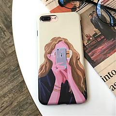 Недорогие Кейсы для iPhone 7-Кейс для Назначение Apple iPhone X iPhone 7 Plus С узором Кейс на заднюю панель Соблазнительная девушка Мягкий ТПУ для iPhone X iPhone 8
