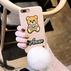Недорогие Кейсы для iPhone 7-Кейс для Назначение Apple iPhone X iPhone 7 Plus С узором Кейс на заднюю панель 3D в мультяшном стиле Мягкий текстильный для iPhone X