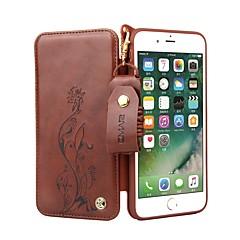 Недорогие Кейсы для iPhone 6 Plus-Кейс для Назначение Apple iPhone 8 / iPhone 8 Plus Бумажник для карт / Флип Чехол Цветы Твердый Кожа PU для iPhone 8 Pluss / iPhone 8 / iPhone 7 Plus