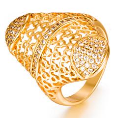 お買い得  指輪-女性用 幾何学模様 バンドリング - ゴールドメッキ ファッション 7 / 8 / 9 ゴールド 用途 結婚式 / 贈り物