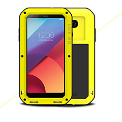 Недорогие Чехлы и кейсы для LG-Кейс для Назначение LG G6 Защита от удара Водонепроницаемый Чехол Сплошной цвет Твердый Металл для LG G6
