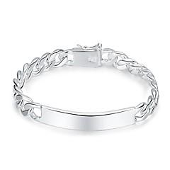 preiswerte Armbänder-Herrn Geometrisch Ketten- & Glieder-Armbänder - Modisch Armbänder Silber Für Geschenk Alltag