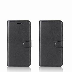 Недорогие Чехлы и кейсы для Xiaomi-Кейс для Назначение Xiaomi Redmi 5A / Mi Mix Кошелек / Бумажник для карт / со стендом Чехол Однотонный Твердый Кожа PU для Redmi Note 5A / Xiaomi Redmi Note 4X / Xiaomi Redmi Note 4 / Xiaomi Redmi 4a