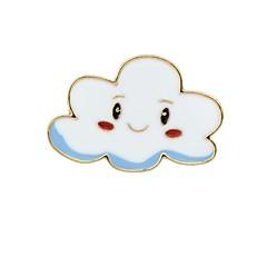 お買い得  ブローチ-女性用 ブローチ  -  サンケア, 雲 ベーシック, ファッション ブローチ ホワイト / イエロー 用途 日常 / デート