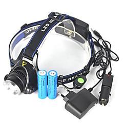 preiswerte Stirnlampen-5000 lm Stirnlampen LED 1 Modus Tragbar / Professionell / Verschleißfest