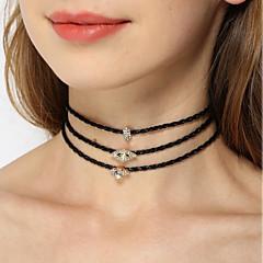 preiswerte Halsketten-Damen Mehrschichtig / Geometrisch Halsketten - Retro, Modisch, Mehrlagig Weiß, Schwarz Modische Halsketten Für Party, Verlobung, Geschenk