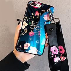 Недорогие Кейсы для iPhone 6 Plus-Кейс для Назначение Apple iPhone X / iPhone 7 Plus С узором Кейс на заднюю панель Цветы Мягкий Силикон для iPhone X / iPhone 8 Pluss / iPhone 8