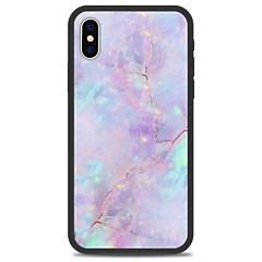 お買い得  iPhone 5S/SE ケース-ケース 用途 Apple iPhone X iPhone 8 Plus パターン バックカバー マーブル ハード アクリル のために iPhone X iPhone 8 Plus iPhone 8 iPhone 7 Plus iPhone 7 iPhone 6s Plus
