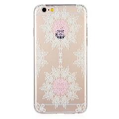 Недорогие Кейсы для iPhone 5-Кейс для Назначение Apple iPhone 8 / iPhone 7 С узором Кейс на заднюю панель Кружева Печать / Цветы Мягкий ТПУ для iPhone 8 Pluss / iPhone 8 / iPhone 7 Plus