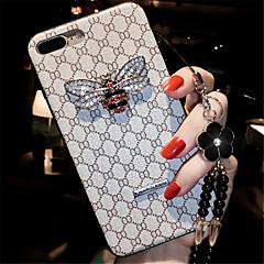 Недорогие Кейсы для iPhone 7-Кейс для Назначение Apple iPhone X iPhone 7 Plus Стразы С узором Кейс на заднюю панель Полосы / волосы Мягкий Силикон для iPhone 8 Pluss