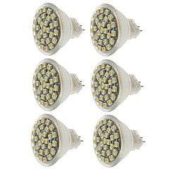 economico Lampadine LED-SENCART 6pcs 2W 140-180 lm MR11 Faretti LED MR11 30 leds SMD 3528 Decorativo Bianco caldo Luce fredda Giallo CC 12V