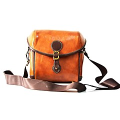 cheap Cases, Bags & Straps-One-Shoulder Camera Bag Camera Bags PU Leather