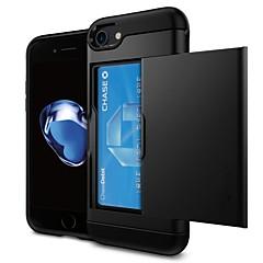 Недорогие Кейсы для iPhone X-VORMOR Кейс для Назначение Apple iPhone 7 / iPhone 6 Бумажник для карт Кейс на заднюю панель Однотонный Твердый ПК для iPhone X / iPhone 8 Pluss / iPhone 8
