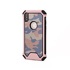 Недорогие Кейсы для iPhone 7 Plus-Кейс для Назначение Apple iPhone X iPhone 8 Защита от удара Кейс на заднюю панель Камуфляж Мягкий Силикон для iPhone X iPhone 8 Pluss