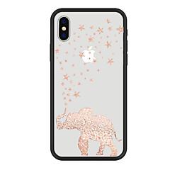 Недорогие Кейсы для iPhone 7-Кейс для Назначение Apple iPhone X iPhone 8 Plus С узором Кейс на заднюю панель Слон Мультипликация Животное Твердый Акрил для iPhone X
