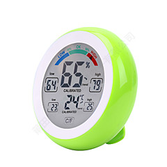 preiswerte Alarm & Sicherheit-Touch Screen Digital Temperature Humidity Thermometer Hygrometer Temperatur Feuchtigkeitssensor Plattform ThermometerforHeim