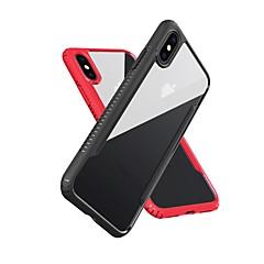 Недорогие Кейсы для iPhone-Кейс для Назначение Apple iPhone X iPhone 8 Защита от удара Зеркальная поверхность Полупрозрачный Кейс на заднюю панель Однотонный Мягкий