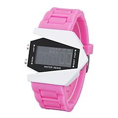 preiswerte Armbanduhren für Paare-Herrn Paar Armbanduhren für den Alltag Sportuhr Modeuhr Digital Kalender Nachts leuchtend Armbanduhren für den Alltag Silikon Band digital Luxus Freizeit Schwarz / Weiß / Blau - Rot Blau Rosa