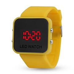 preiswerte Armbanduhren für Paare-Damen Paar Armbanduhren für den Alltag Sportuhr Modeuhr Digital Kalender Nachts leuchtend Armbanduhren für den Alltag Silikon Band digital Freizeit Modisch Schwarz / Weiß / Blau - Gelb Rot Blau
