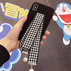 Недорогие Кейсы для iPhone 6-Кейс для Назначение Apple iPhone X / iPhone 7 Plus С узором Кейс на заднюю панель Полосы / волосы Мягкий текстильный для iPhone X / iPhone 8 Pluss / iPhone 8