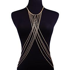 abordables Joyería Corporal-Cinturones metálicos / Collar para Vientre Bikini, Moda Mujer Dorado Joyería Corporal Para Noche / Bikini