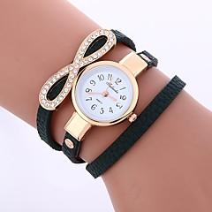 お買い得  レディース腕時計-女性用 クォーツ ファッションウォッチ 中国 模造ダイヤモンド PU バンド カジュアル ファッション ブラック 白 ブルー レッド グレー ピンク ベージュ ダークグリーン