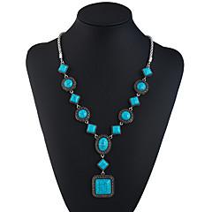 preiswerte Halsketten-Türkis Y Halskette - Ethnisch, Modisch Türkis 69.8+5.5 cm Modische Halsketten Für Festtage, Ausgehen