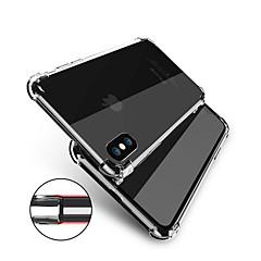 Недорогие Кейсы для iPhone 5-Кейс для Назначение Apple iPhone X iPhone 8 Защита от удара Прозрачный Body Кейс на заднюю панель Однотонный Мягкий ТПУ для iPhone X