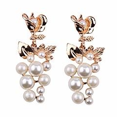 preiswerte Ohrringe-Tropfen-Ohrringe - Perle Europäisch, Modisch, überdimensional Rot / Blau / Champagner Für Strasse / Arbeit