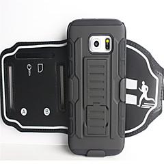 Недорогие Универсальные чехлы и сумочки-Кейс для Назначение SSamsung Galaxy A8 2018 А5 (2018) Спортивныеповязки Бумажник для карт Защита от удара С ремешком на руку Однотонный