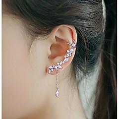 preiswerte Ohrringe-Damen Kubikzirkonia Quaste Ohr-Stulpen / Ohr Kletterer - versilbert Quaste, Modisch Silber Für Hochzeit / Party