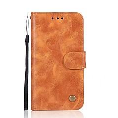 Недорогие Кейсы для iPhone-Кейс для Назначение Apple iPhone X iPhone 8 Бумажник для карт Кошелек Флип Магнитный Чехол Однотонный Твердый Кожа PU для iPhone X iPhone