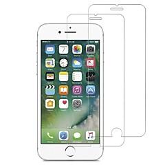 Недорогие Защитные пленки для iPhone 7-Защитная плёнка для экрана для Apple iPhone 7 Закаленное стекло 2 штs Защитная пленка для экрана HD / Уровень защиты 9H / 2.5D закругленные углы