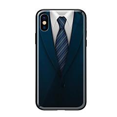 Недорогие Кейсы для iPhone 5-Кейс для Назначение Apple iPhone X iPhone 8 С узором Кейс на заднюю панель Мультипликация Твердый Закаленное стекло для iPhone X iPhone 8