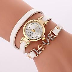 preiswerte Damenuhren-Damen Quartz Armband-Uhr Chinesisch Imitation Diamant Armbanduhren für den Alltag PU Band Freizeit Böhmische Schwarz Weiß Blau Rot Braun