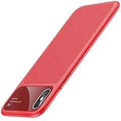 Недорогие Кейсы для iPhone X-Кейс для Назначение Apple iPhone X iPhone 8 Защита от удара Зеркальная поверхность Кейс на заднюю панель Однотонный Мягкий ТПУ для iPhone