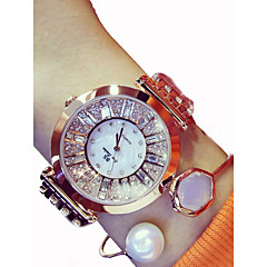 preiswerte Damenuhren-Damen Armband-Uhr Japanisch 50 m Chronograph Großes Ziffernblatt Edelstahl Band Analog Glanz Silber / Gold / Rotgold - Gold Silber Rotgold