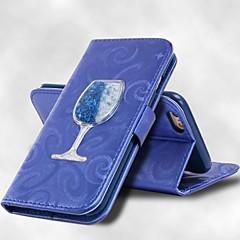 olcso Galaxy S6 Edge tokok-Case Kompatibilitás Samsung Galaxy S8 Plus S8 Kártyatartó Pénztárca Állvánnyal Folyékony Héjtok Tömör szín Kemény PU bőr mert S8 Plus S8
