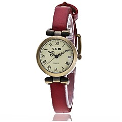 preiswerte Damenuhren-Damen Armbanduhren für den Alltag Modeuhr Quartz Schwarz / Weiß / Blau Armbanduhren für den Alltag Analog damas Retro Modisch - Rot Grün Blau Ein Jahr Batterielebensdauer