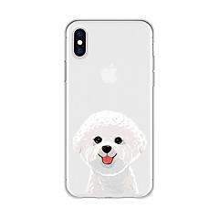 tanie Etui do iPhone 6-Kılıf Na Apple iPhone X iPhone 8 Plus Wzór Czarne etui Pies Rysunek Zwierzę Miękkie TPU na iPhone X iPhone 8 Plus iPhone 8 iPhone 7 Plus