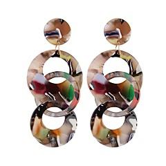 Недорогие Женские украшения-Серьги-слезки - Свисающие, пончики европейский, Мода, Крупногабаритные Белый / Кофейный / Цвет радуги Назначение Для улицы / Для клуба