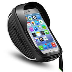 abordables Bolsas para Bicicleta-Bolso del teléfono celular 6 pulgada Pantalla táctil, Impermeable, Portátil Ciclismo para iPhone 8/7/6S/6 / iPhone X / Samsung Galaxy S8+ / Note 8 Negro