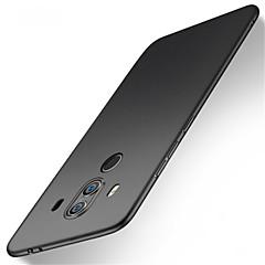Недорогие Чехлы и кейсы для Huawei Mate-Кейс для Назначение Huawei Mate 10 lite Mate 10 pro Защита от удара Матовое Кейс на заднюю панель Однотонный Твердый ПК для Mate 10 lite