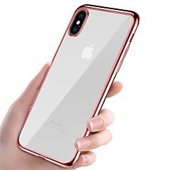お買い得  iPhone 5S/SE ケース-ケース 用途 Apple iPhone X iPhone 8 メッキ仕上げ 超薄型 透明体 バックカバー ソリッド ソフト TPU のために iPhone X iPhone 8 Plus iPhone 8 iPhone 7 Plus iPhone 7 iPhone 6s