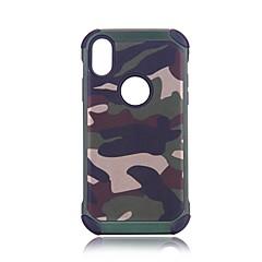 Недорогие Кейсы для iPhone X-Кейс для Назначение Apple iPhone X iPhone 8 Защита от удара броня Кейс на заднюю панель Камуфляж Твердый ПК для iPhone X iPhone 8 Pluss