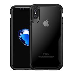 Недорогие Кейсы для iPhone 6 Plus-Кейс для Назначение Apple iPhone X / iPhone 8 Защита от удара / Полупрозрачный Кейс на заднюю панель Однотонный Твердый ПК для iPhone X / iPhone 8 Pluss / iPhone 8