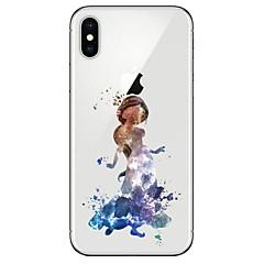 Недорогие Кейсы для iPhone 6-Кейс для Назначение Apple iPhone X / iPhone 8 Прозрачный / С узором Кейс на заднюю панель Соблазнительная девушка Мягкий ТПУ для iPhone X / iPhone 8 Pluss / iPhone 8